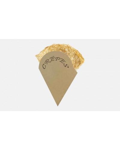 Porta Crepes Carta Kraft Beige 1/8 250 pz Imballaggi Alimentari