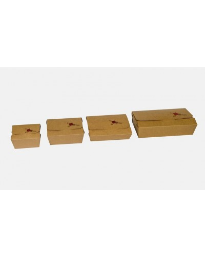 Box Alimenti Take Away Avana 215x160x48 mm 60 pz Imballaggi Alimentari