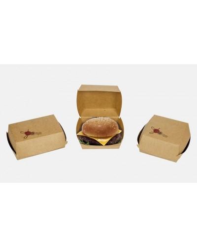 Hamburger Box Avana 16x16x9 Cm 50pz Ceralacca