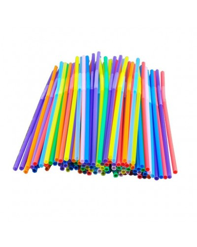 Confezione da 200 Cannucce Colorate Pieghevoli da 24 cm per Bibite