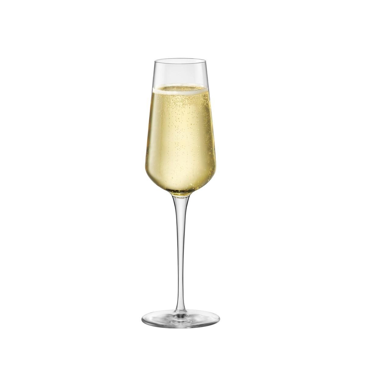 Détails sur Set 6 Coupes Flûte Champagne Retour au Début Un 28 CL Verre Bormioli Rocco Resto