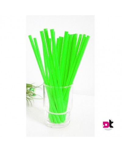 Cannucce Verdi Rigide 21 cm 1000 pz per Cocktail