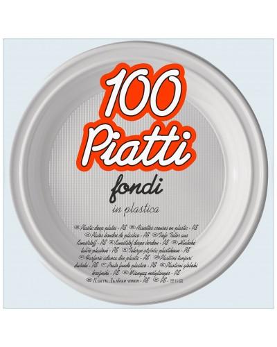 Piatti Fondi Plastica Ø 20,5 cm 100 pz