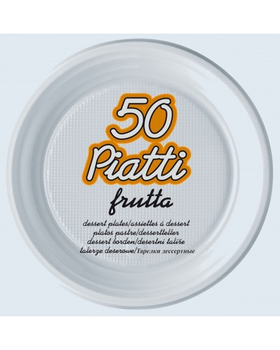 Piatti Frutta Plastica Ø 17 cm 50 pz Dopla