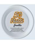 Piatti Frutta Plastica Ø 17 cm 50 pz
