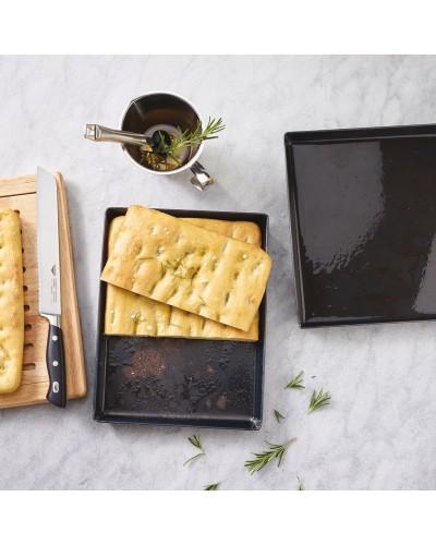 Teglia Pizza Rettangolare in Ferro Blu 40x30 cm Sambonet Paderno