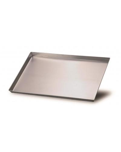 Teglia Rettangolare Alluminio 35x28x3 cm con Angoli Svasati Agnelli