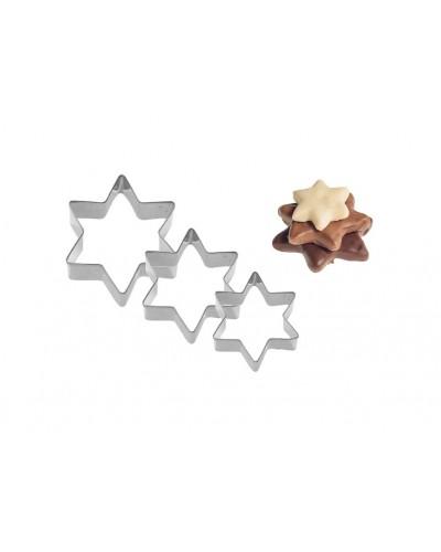 Set 3 Tagliabiscotti Stella 4-5-6 cm