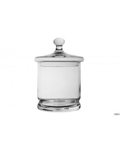 Barattolo Vetro Con Coperchio H. 23 cm