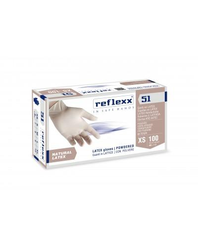 Guanti Lattice Reflexx51 Con Polvere 100 pz