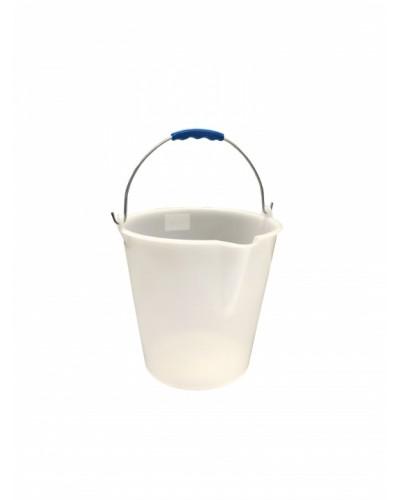 Secchio Pulizie con Becco Bianco 15 lt MobilPlastic