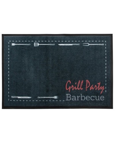 Tappeto Mat Design BBQ Grill Party 80x120 cm