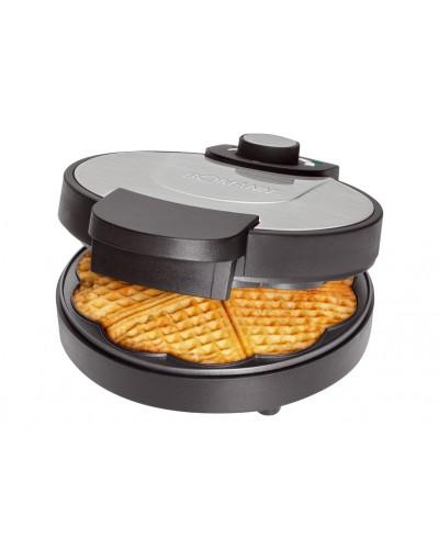 Piastra Cialde Waffle Nera 18 cm Bomann