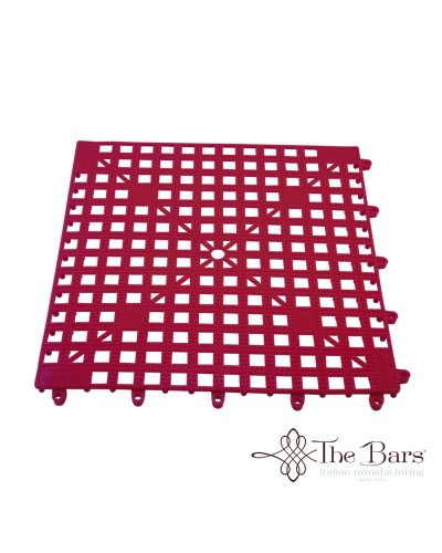 Tappetino Bar Componibile Rosso 33x33 cm The Bars