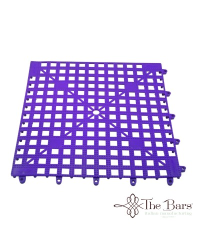 Tappetino Bar Antiscivolo Viola Componibile 33x33 cm The Bars