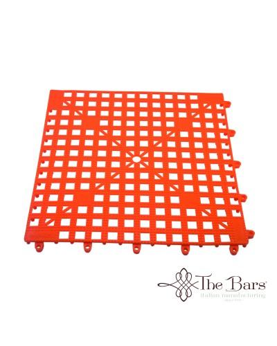 Tappetino Bar Componibile Arancione 33x33 cm The Bars