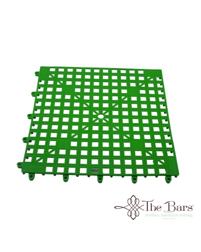 Tappetino Bar Componibile Verde 33x33 cm The Bars