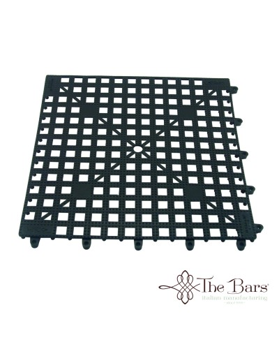 Tappetino Bar Antiscivolo Nero Componibile 33x33 cm The Bars
