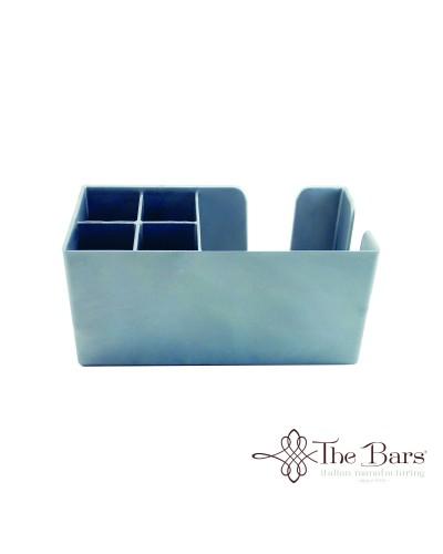 Dispenser da Banco Bar Porta Tovaglioli e Cannucce Argento The Bars