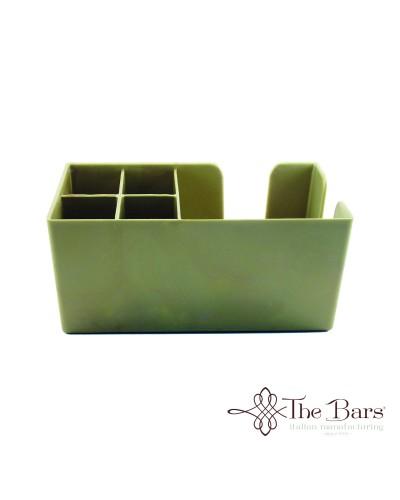 Dispenser da Banco Bar Porta Tovaglioli e Cannucce Oro The Bars