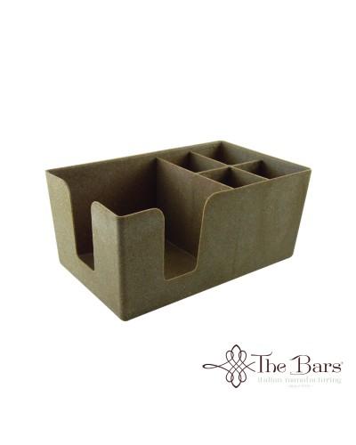 Dispenser da Banco Bar Porta Tovaglioli e Cannucce Wood The Bars