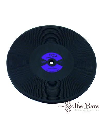 Sottobicchiere Disco Vinile Viola in Plastica The Bars