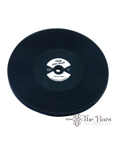 Sottobicchiere Disco Vinile LP Bianco The Bars