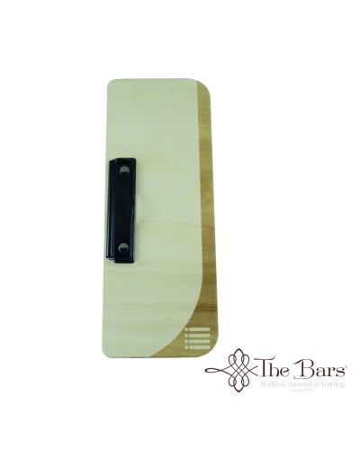 Portamenu Legno Naturale Onda 12x32 cm The Bars