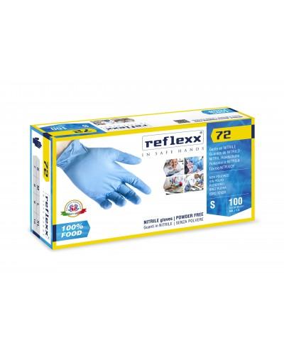 Guanti Nitrile per Alimenti Reflexx71 Blu 100 pz