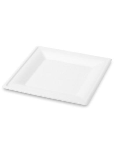 Piatto Quadrato in Polpa Di Cellulosa 26 cm 50 pz Siam
