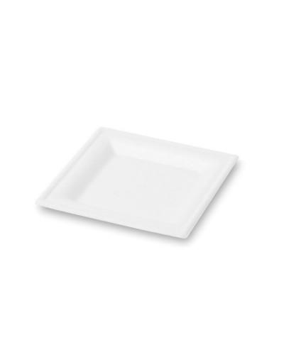 Piatto Piano Quadrato Polpa di Cellulosa 16x16 cm 50 pz