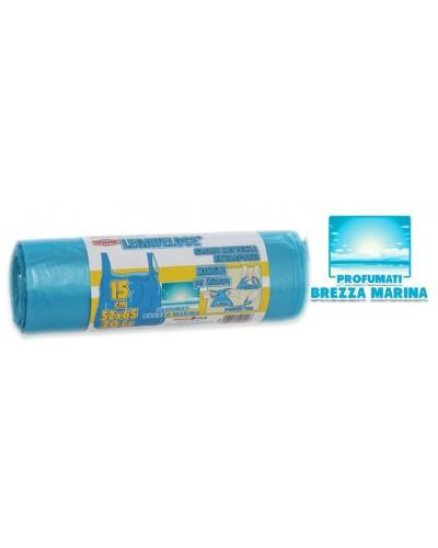 Sacchi Spazzatura Azzurri Tshirt 52x65 cm 15 pz Dinamic