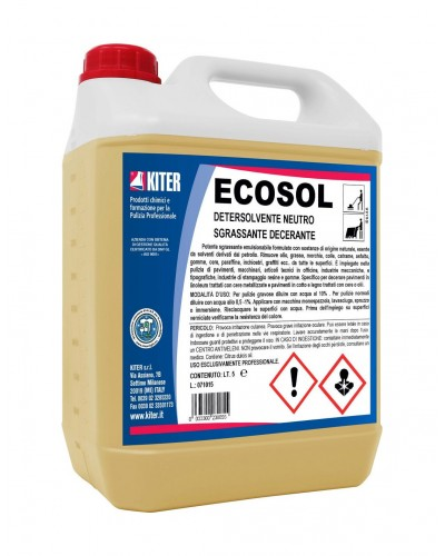 Ecosol Sgrassante Decerante Pavimenti 5 lt Kiter