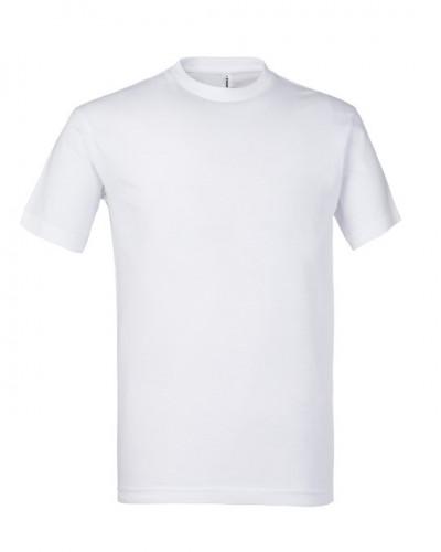 T-shirt Unisex Bianca Basic in Cotone Rossini