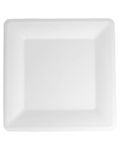 Piatto Quadrato Polpa di Cellulosa 26x26 cm 50 pz