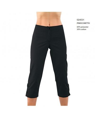 Pantalone Pinocchietto Donna Nero Tg. 54 Isacco