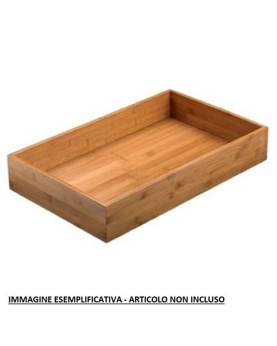 GRIGLIA TAGLIERE PER VASSOIO ASIA BAMBOO NATURALE 53x32,5x4 cm