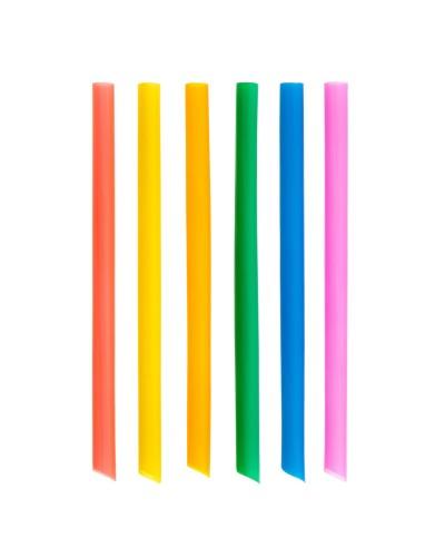 Confezione da 100 Cannucce Colorate da 21 cm per Frappè