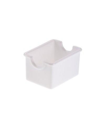 Vaschetta Porta Bustine Zucchero Bianca 8x5x5 cm Policarbonato Leone