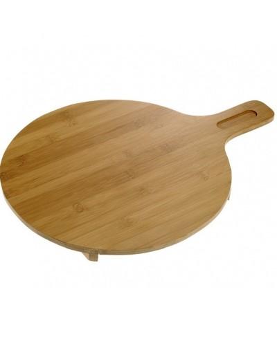 Tagliere Tondo in legno di Bamboo 35 cm con manico Leone