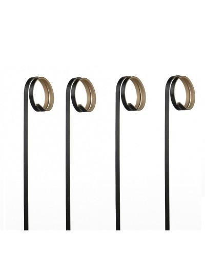 Spiedi Ricciolo Bamboo Neri 12 cm 100 pz per Finger Food Leone