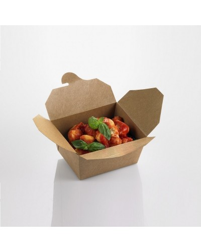 SCATOLA BOX CHIUSA DA ASPORTO CARTA KRAFT 21x16x9 cm 40pz STREET FOOD