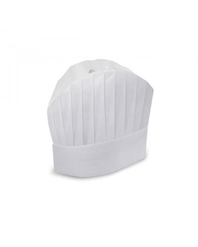Cappello Cuoco Carta 30 cm 20 pz Monoutile