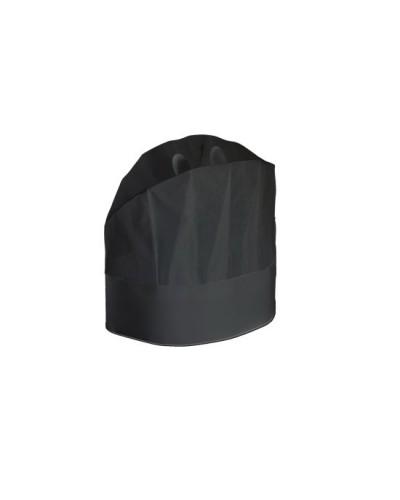 Cappello Cuoco Carta Nero 23 cm 20 pz Monoutile