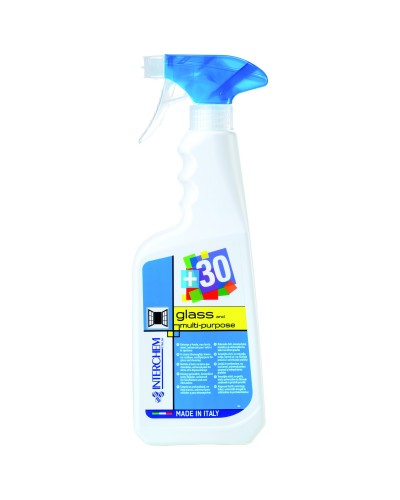 DETERGENTE VETRI E SPOLVERO +30 GLASS AND MULIPURPOSE 750 ml INTERCHEM