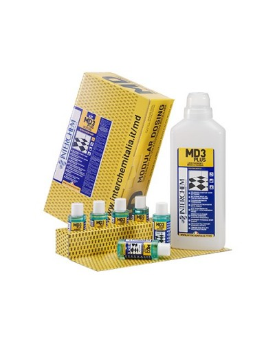 Kit 6 Pavimenti Brezza Marina MD3 Plus 40 ml e Flacone per Dosaggio Interchem