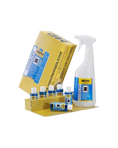 DETERSIVO VETRI E SPOLVERO MD11 40 ml KIT 6 pz + 1 FLACONE INTERCHEM