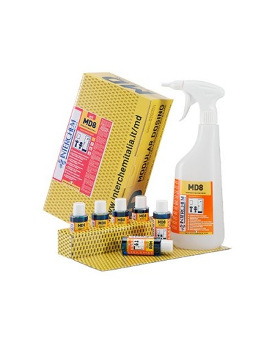 Kit 6 pz Disincrostante Bagno Fresh MD8 40 ml e Flacone Interchem