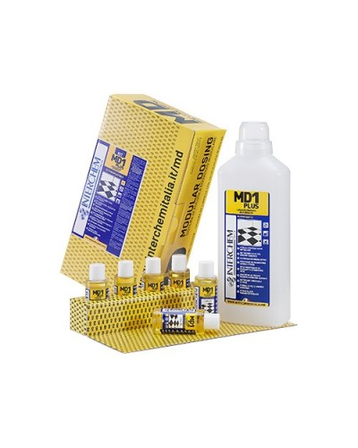 DETERSIVO MANUTENTORE PAVIMENTI AGRUMATO MD1 PLUS 40 ml 6pz+ 1 FLACONE INTERCHEM