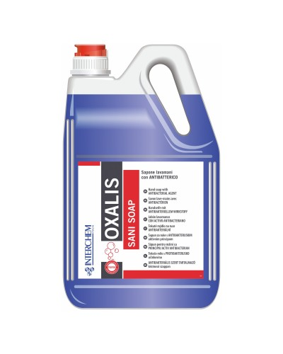 Sapone Liquido Mani Oxalis Sani Soap Antibatterico 5 kg Interchem